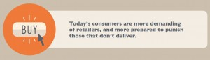 Today's consumers are more demanding of retailers, and more prepared to punish those who don't deliver